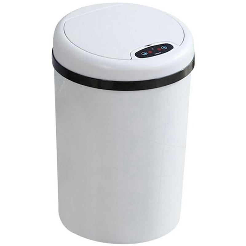 Ev ve Bahçe'ten Atık Kovaları'de 11L otomatik çöp tenekesi kutusu endüktif tip çöp tenekesi otomatik akıllı sensör çöp çöp kutusu mutfak banyo için çöp kutusu