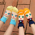 3 Pairs/lot Fashion Women Socks Cartoon Cute Ankle Socks Princess Anna Elsa Fiolla Jasmine Mermaid Fashion Tube Socks