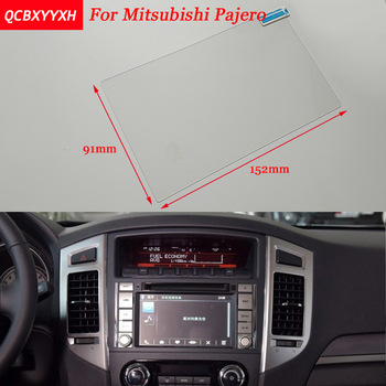 Car Sticker 7 Inch GPS Navigation Screen Steel Protective Film For Mitsubishi Pajero Control of LCD Screen Car Styling image