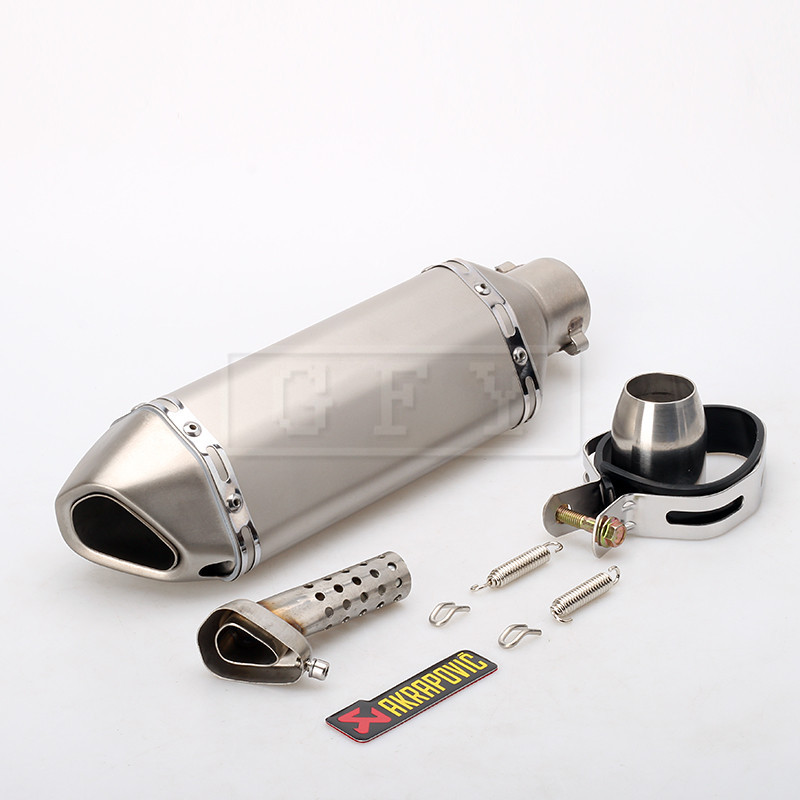51 MM universal Modificado tubo de Escape Da Motocicleta Silenciador CBR YZF R1 R6 CBR125 CBR250 CB250 CB400 CB600