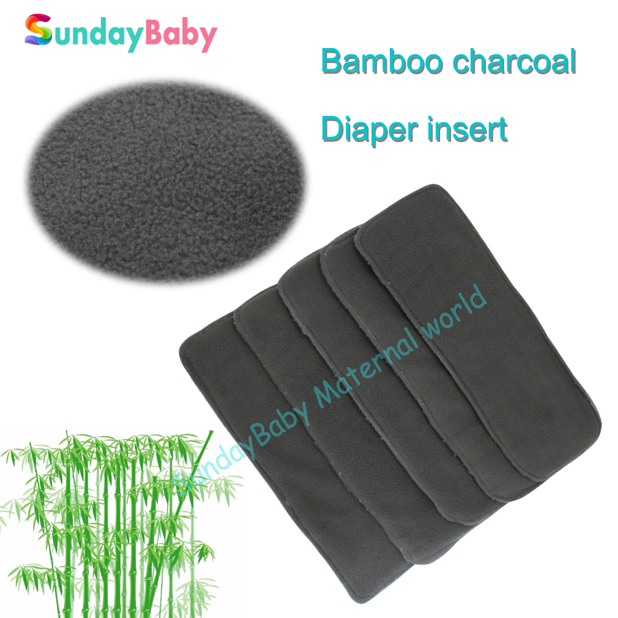 1 pcs Baby diaper insert bamboo charcoal insert for baby baby changing pad washable diaper bamboo
