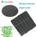 1 pcs Baby diaper insert bamboo charcoal insert for baby, baby changing pad washable diaper bamboo insert
