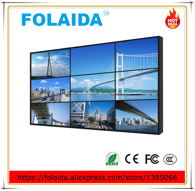 US $880 0 |Supper HD 4K 49 inch lcd seamless 3 5mm narrow bezel video wall  3-in CCTV Monitor & Display from Security & Protection on Aliexpress com |