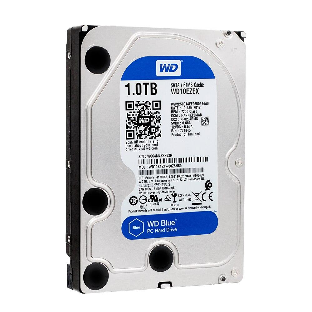 Western Digital WD синий 1 ТБ hdd sata 3,5 дюймов внутренний жесткий диск Desktop внутреннего HDD 7200 об./мин. SATA 6 ГБ/сек. кэш 64 МБ HDD диск