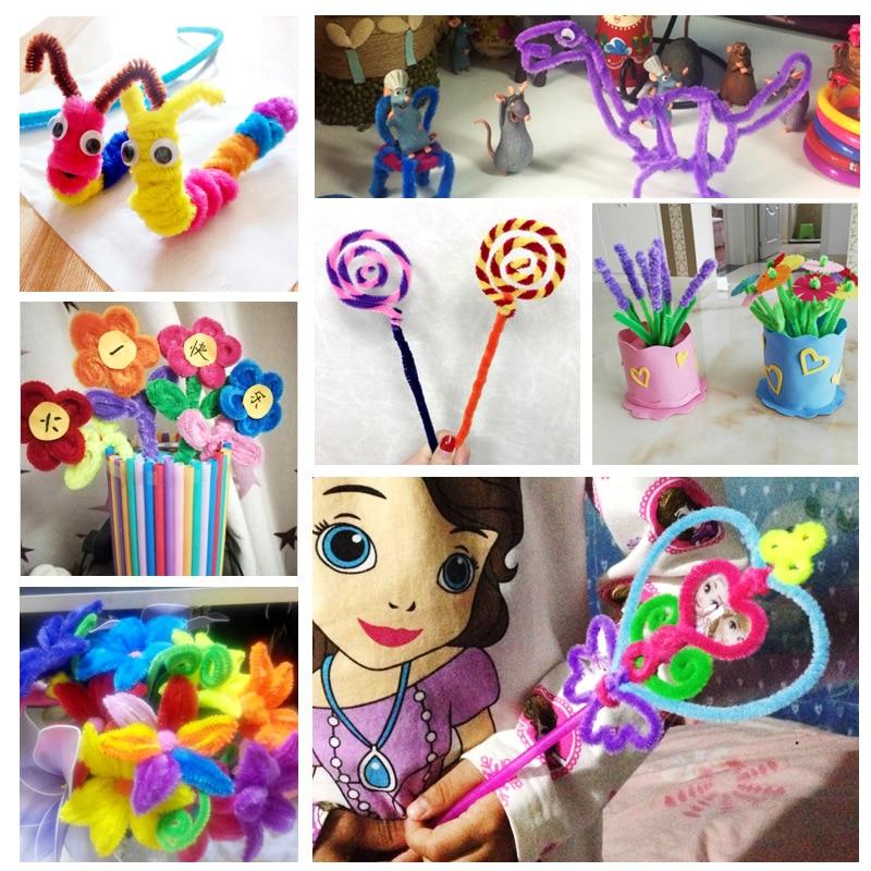 100pcs / Set Colorfu DIY Montessori materialları Chenille Puzzle - Bulmacalar - Fotoqrafiya 5