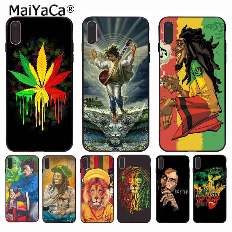 MaiYaCa بوب themarley الأسد الراستا الأسد الريغي لتقوم بها بنفسك غطاء إطار هاتف محمول لابل iPhone8 7 6 6S زائد X XS ماكس 5 5s SE XR الهواتف المحمولة