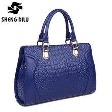 NEW HOT 2015 women high Quality Crocodile Pattern messenger bags VINTAGE genuine leather women handbags shoulder bag bolsas 8942