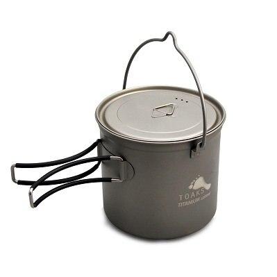 купить TOAKS Outdoor Camping Cookware Picnic Hang Pot Ultralight Titanium Pot 1100ml 1300ml 1600ml 2000ml недорого