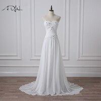 ADLN Simple Sweetheart Sleeveless Chiffon Beach Wedding Dresses Cheap Bridal Reception Dress Vestidos De Novia
