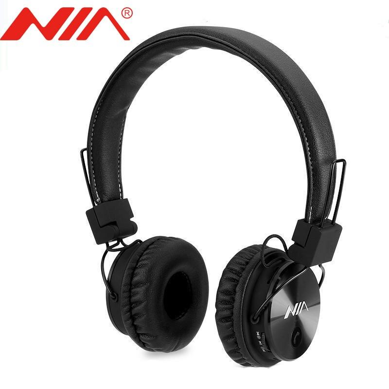 Original nia x3 fone de ouvido sem fio estéreo bluetooth fones fone de ouvido fone de ouvido com microfone apoio tf cartão fm rádio