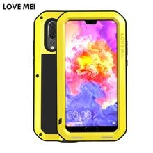 LOVE MEI Waterproof For Huawei P20 Pro Case Extreme Dirtproof Waterproof Metal Case For Huawei P20 Cover Funda   Gorilla Glass