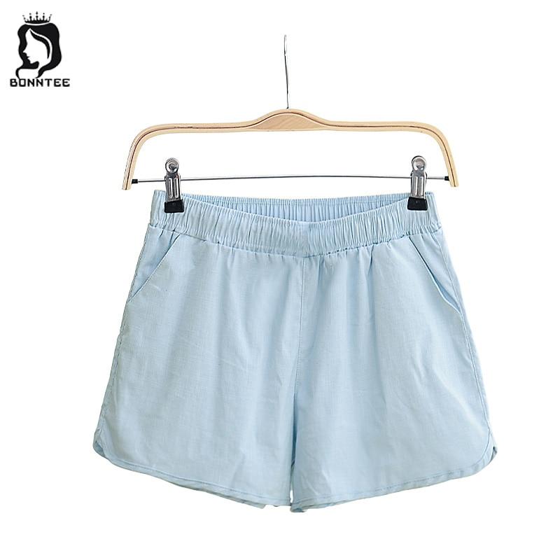 Fashion Summer Thin Women Short Womens Loose Elastic High Waist Solid Trendy Female Shorts Females Pockets School Students Girls
