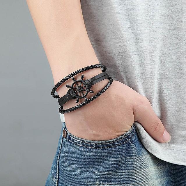 новый уникальный модный двойной браслет janeyacy с сердцем мужской фотография