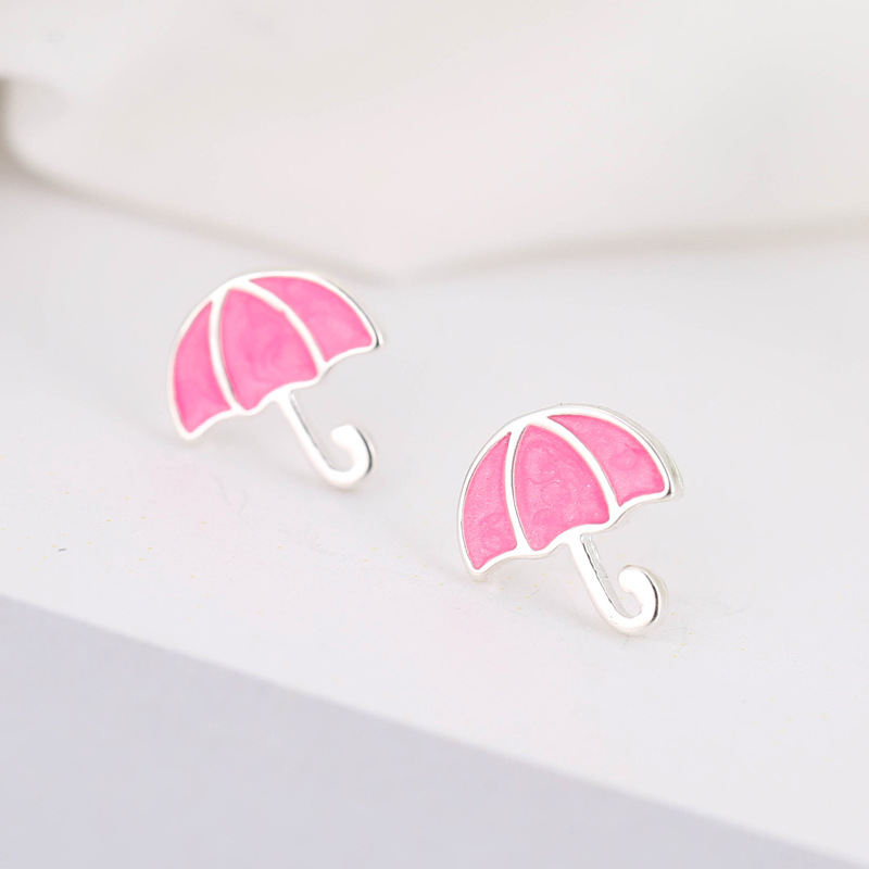 Jewelry & Accessories Forewe 100% 925 Sterling Silver Children Jewelry Fashion Cute Tiny Multi-color Enamel Umbrella Stud Earrings For Daughter Girls