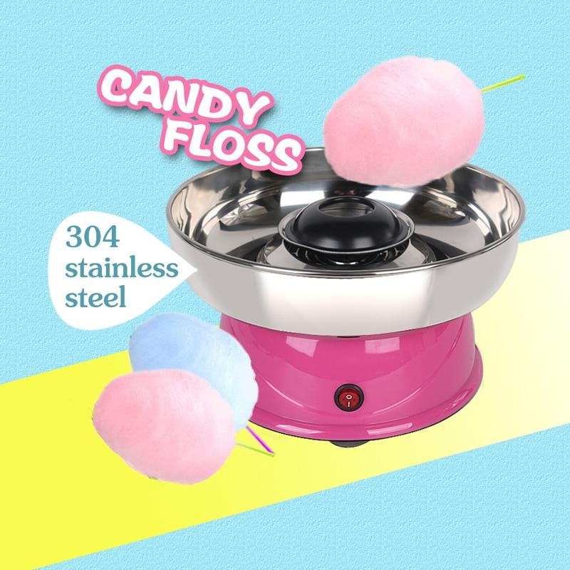 ITOP Electirc Cotton Candy Maker Candy Floss Machine Cotton Sugar  DIY Machine Sweet Floss Food Processors Machine Kids Gift