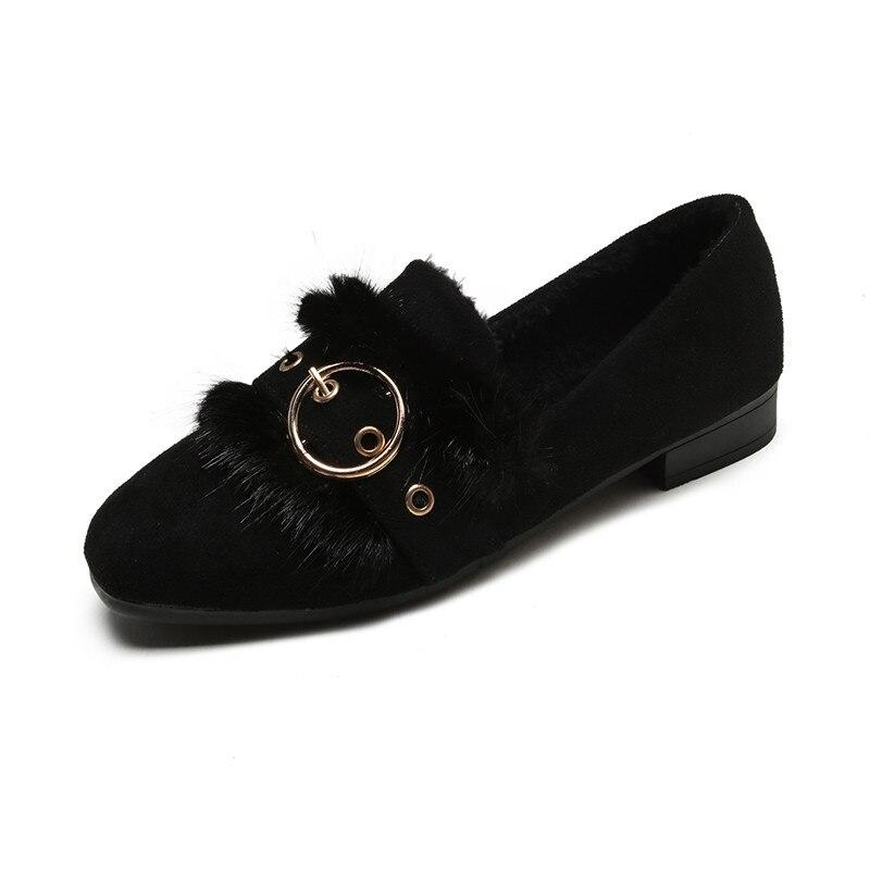 Pour De Automne Zapatos Chaud kaki Femmes Pantoufles Mujer Dames À En Moelleux Hiver Fourrure Mignon Noir Phyanic Peluche qVUMSpz