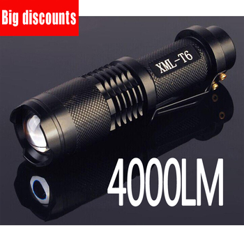 Led flashlight 4000 lumens XML-t6 led Torch Zoomable LED Flashlight Torch light lampe torche ultrafire tactical flashlight xml t6 1 5mode led flashlight luz flash light 18650 battery lantern led lampe torche sofirn