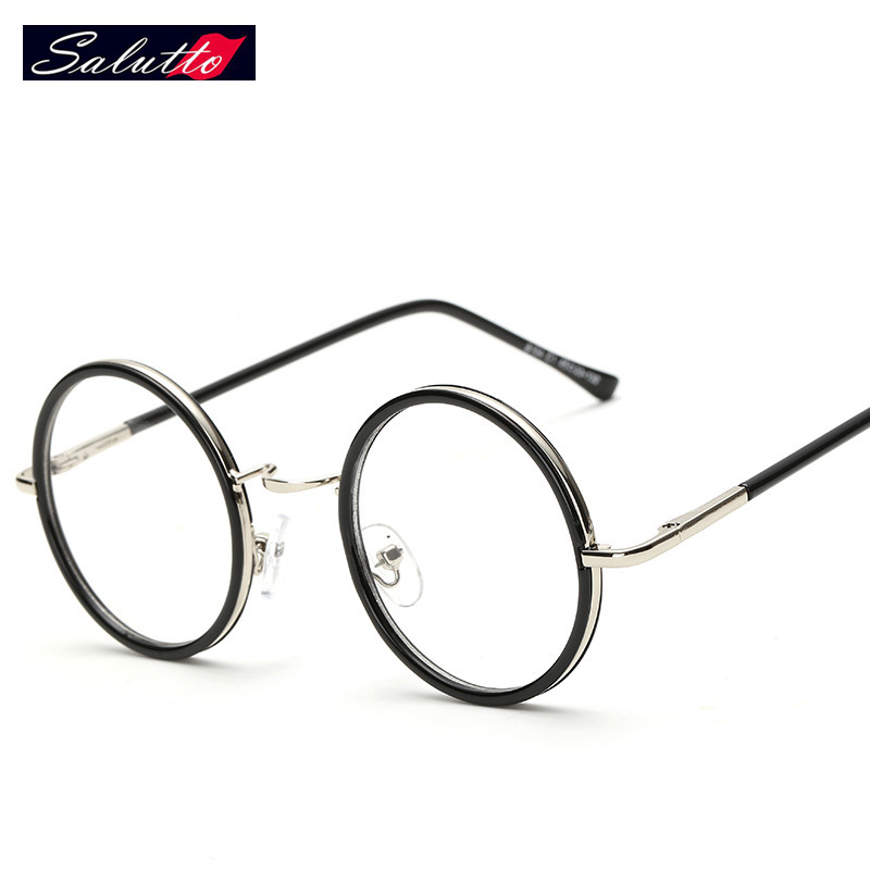 salutto retro round metal frame computer glasses eyeglasses frames for men and women montures de lunette
