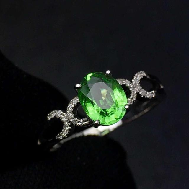 Tsavorite Ring Fine Jewelry Real 18 K Gold Jewelry Natural Unheat 1.3ct Tsavorite Gemstones Tsavorites Female Wedding Rings 1