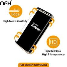 NFH 3D полное покрытие экрана изогнутое закаленное стекло для samsung Galaxy S8 S8 Plus экран Взрывозащищенная пленка для S 8