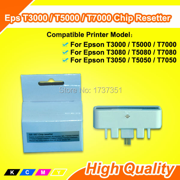 Chip Resetter for EPSON T3000 for Epson SureColor T3000 / T5000/T7000/ T7080 / T3080/T3050 / T7050/T5050 / T5080 printer 700ml wide format ink cartridge for epson t3000 t5000 t7000 printer with auto reset chip