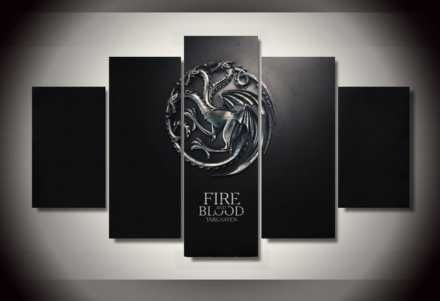 Game Of Thrones Wall Art aliexpress : buy 5 sets the game of thrones fire and blood