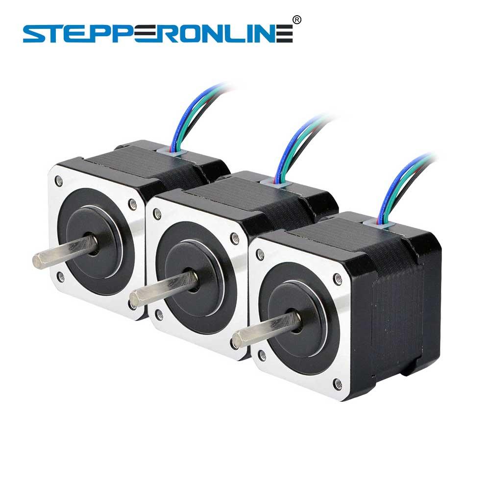 3PCS Nema 17 Stepper Motor 40mm 45Ncm(64oz.in) 2A 4-lead Nema17 Step Motor 1m Cable for DIY 3D Printer CNC Robot цены