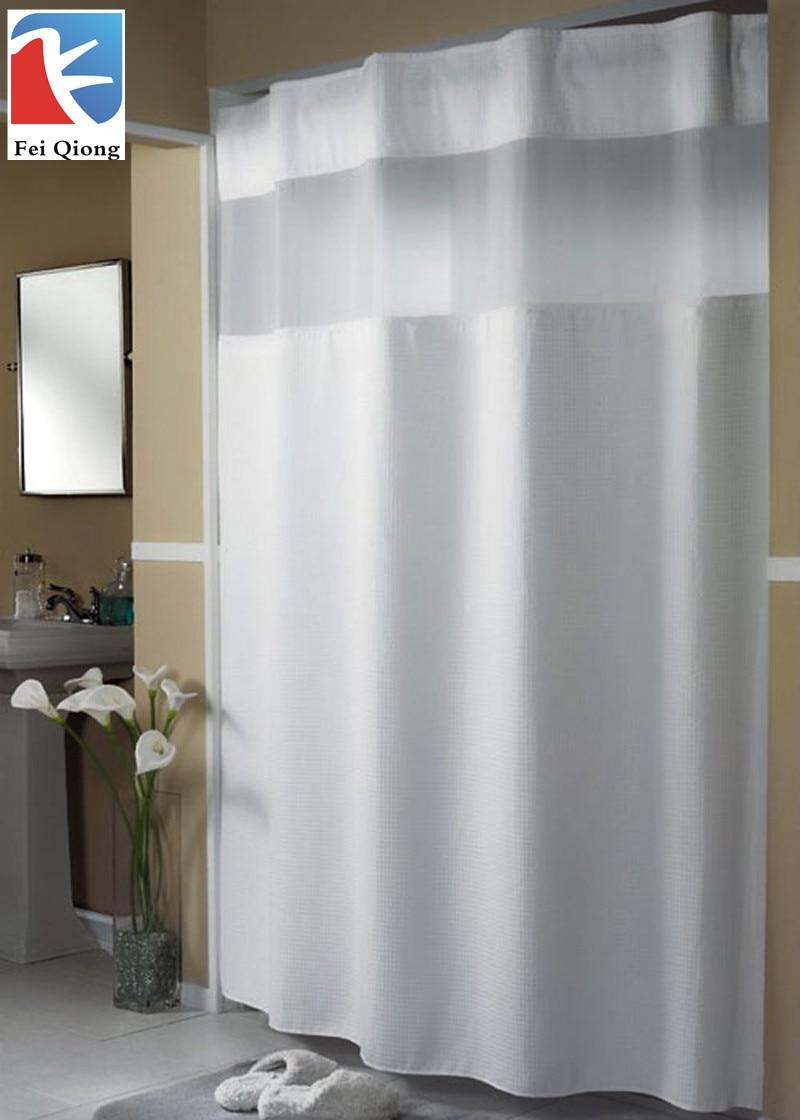 Feiqiong tahan jamur shower curtain kain dengan grommets tahan karat dan plastik kait 100 polyester untuk kamar mandi di shower tirai dari rumah taman