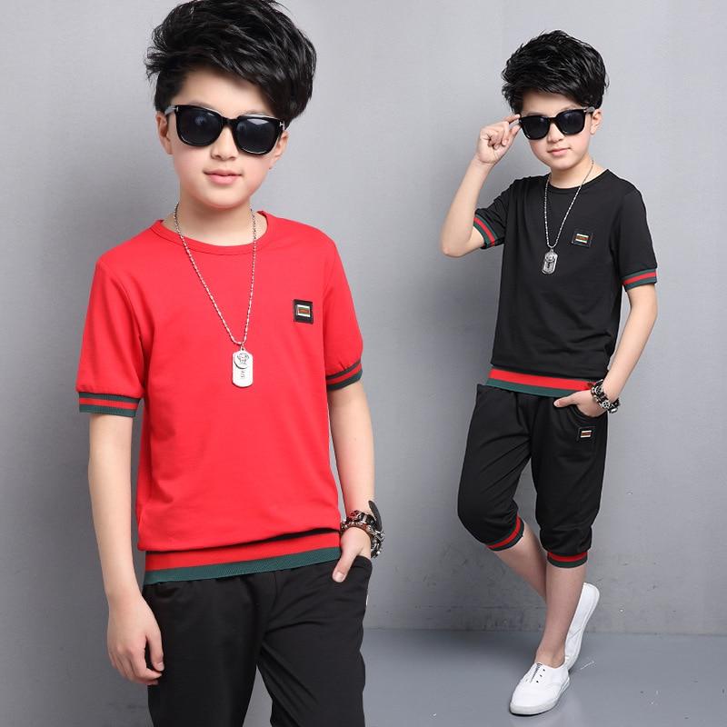 2017 Summer Big virgin Children kids boys clothes clothing 2 pcs sets tracksuit for boys set 5 6 8 9 10 11 12 13 15  year old 50 daikin atyn35l aryn35l
