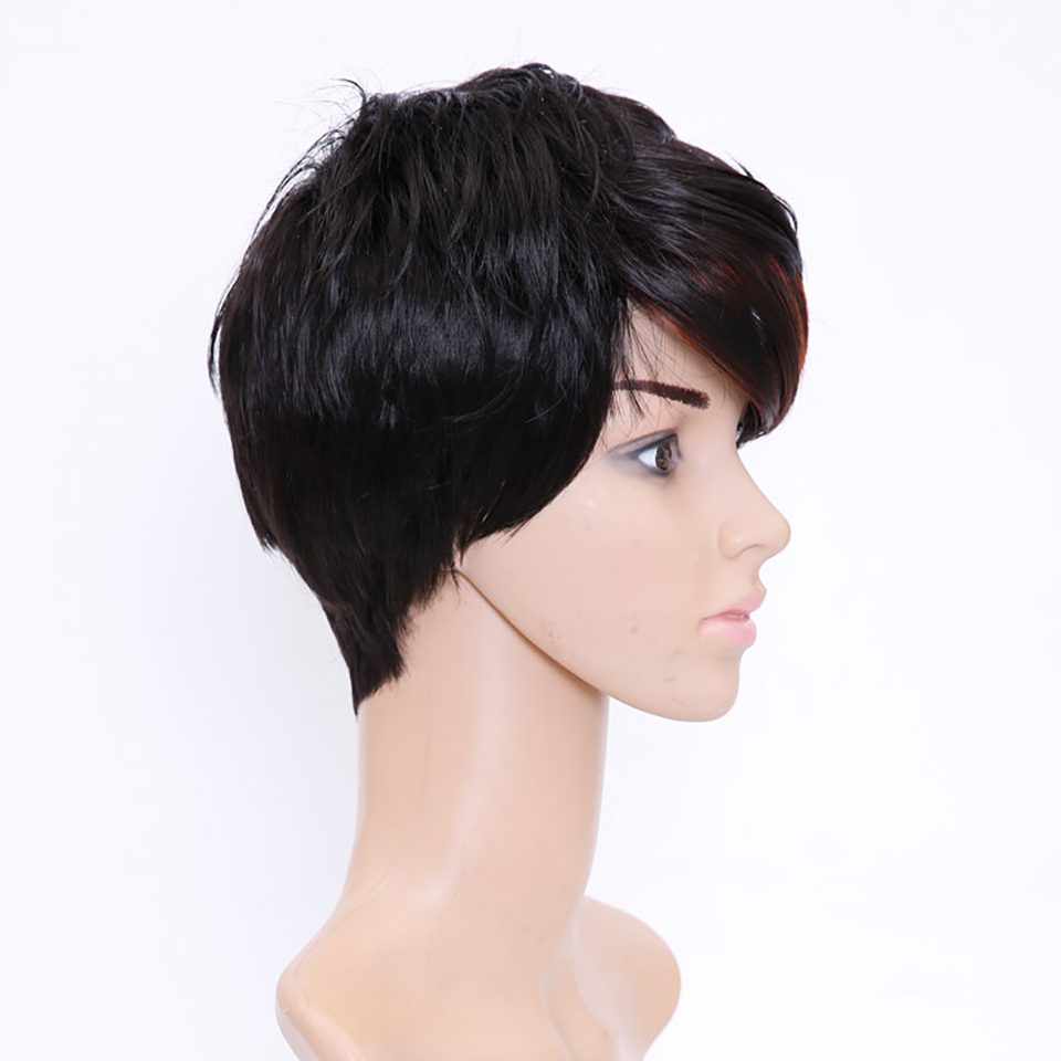 AOSIWIG Short Straight Wigs Synthetic High Temperature Hair Wigs Costume Party Cosplay Wig For Women