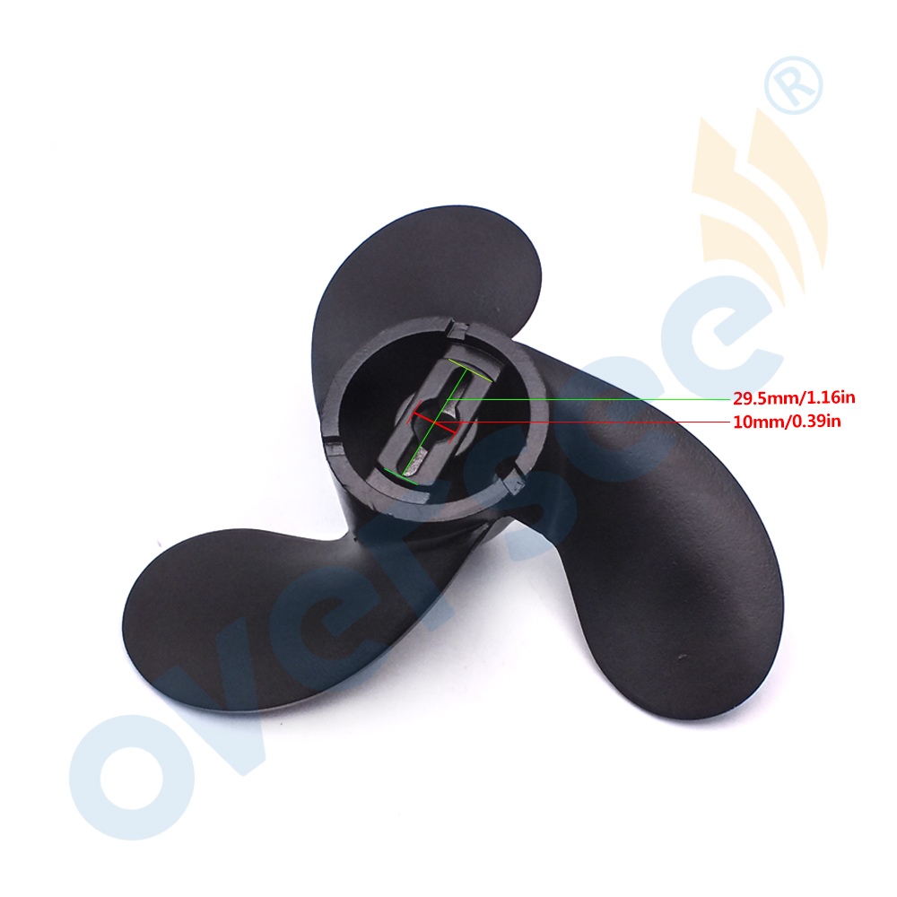 Outboard Propeller (3x7-1/2x6) (Black) 58110-91J00-019,Propeller  For Suzuki OEM Outboard Parts