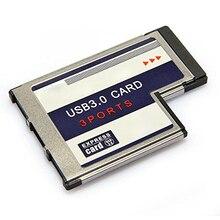 3 Порта USB 3.0 Express Card 54 мм PCMCIA Express Card для Ноутбуков НОВЫЙ