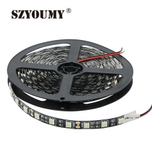 SZYOUMY DC 12V 5050 SMD Ice Blue LED Strip Light Not Waterproof 60 Leds/m Fita Led String Black PCB Ribbon Tape Lamp Decoration