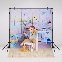 Happy Easter Photography Backdrop Digital Printing Vinyl Or Oxford GE194 Children Flower Background For Photo Studio