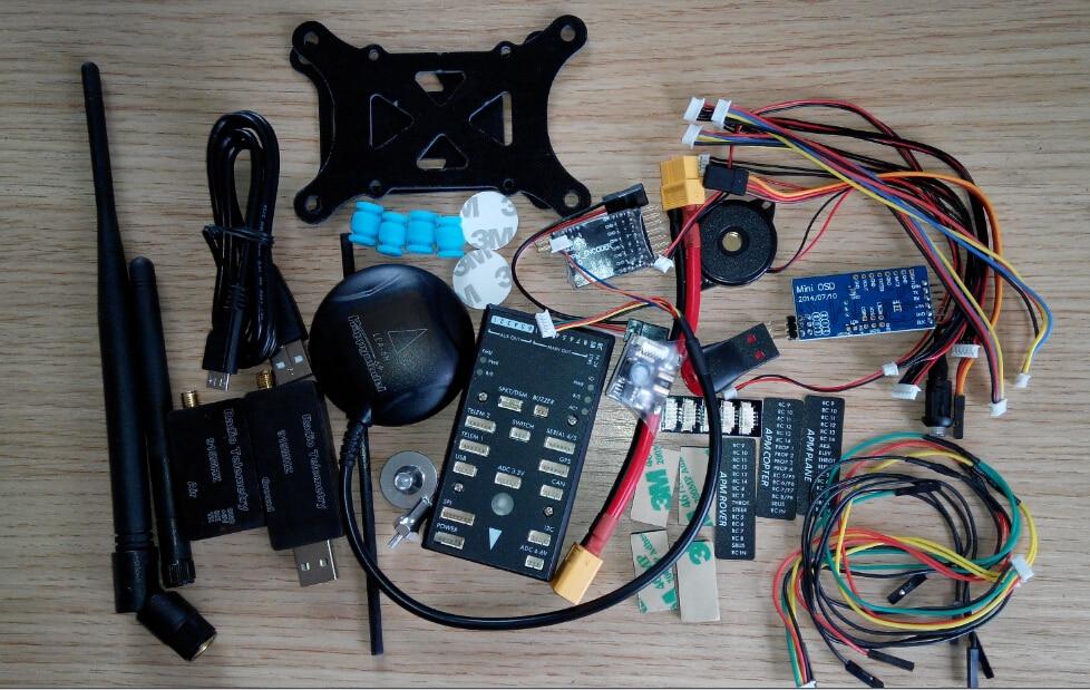 Pixhawk PX4 Autopilot PIX 2.4.5 Flight Controller 32 bit ARM Set w/ Ublox LEA 6H GPS w/ Compass + 3DR Radio Telemetry + OSD 3dr pixhawk mini flight controller 32 bit arm cortex px4 for mini quadcopter