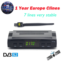 Cccam Cline For 1 Year Freesat V7 HD DVB S2 Satellite Receiver Support PowerVu Biss Key