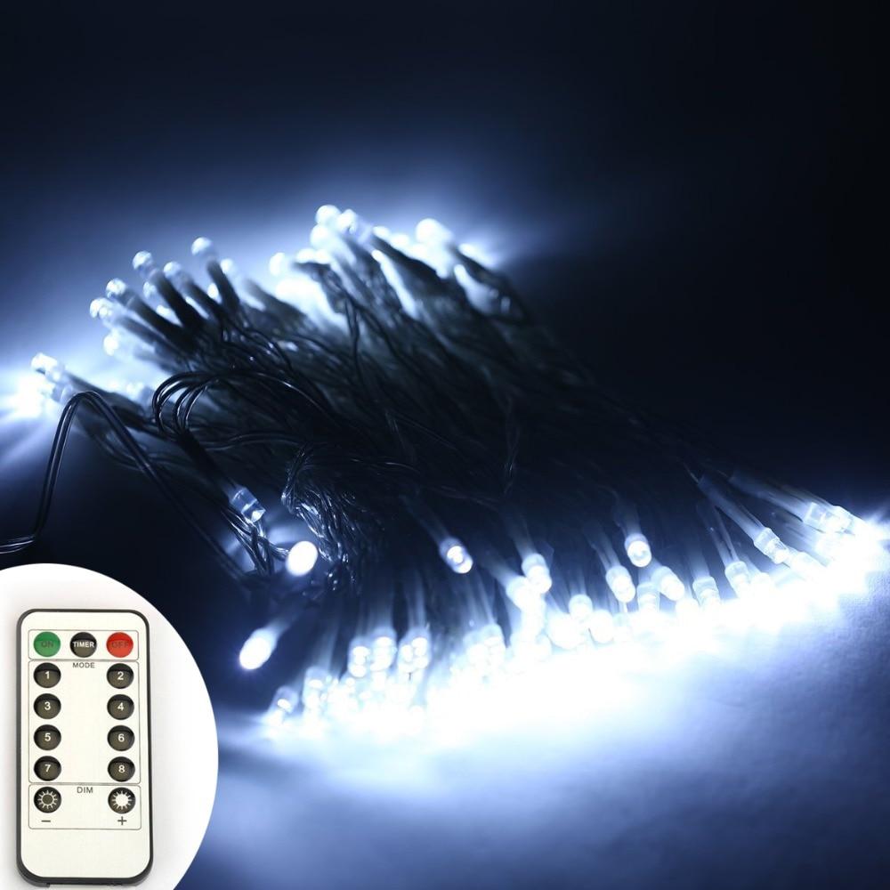 6AA Bateri Powered 10M 33FT 100LED PVC Wire Krismas String Fairy - Pencahayaan perayaan - Foto 6