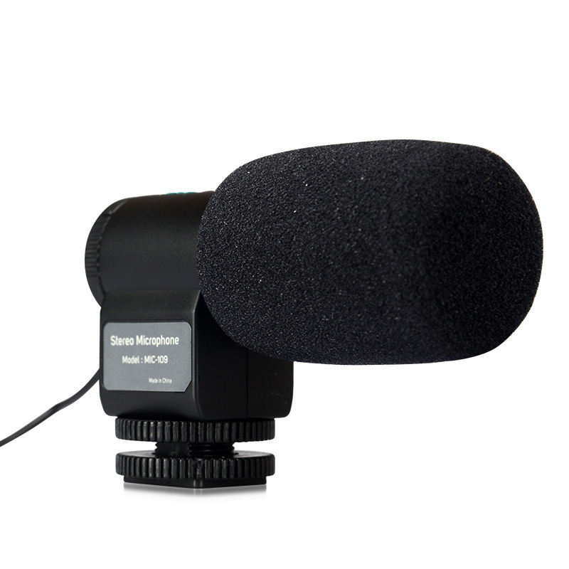Mini Microphone stéréo directionnel externe noir MIC-109 pour prise micro 3.5mm Nikon Canon DSLR caméra DV caméscope livraison gratuite