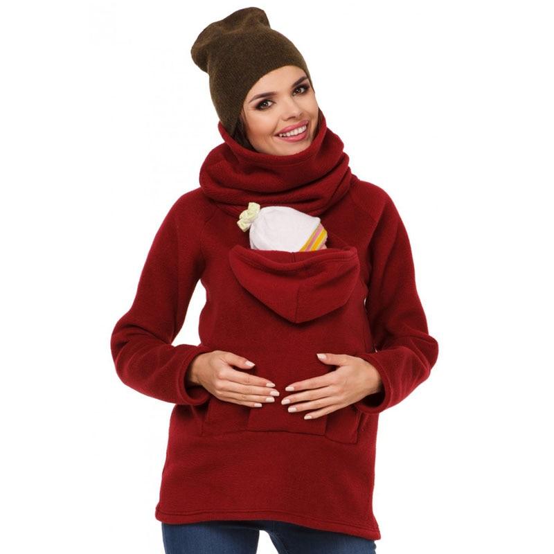 Kangourou Porte-Bébé Pour Les Femmes Enceintes Vêtements De Maternité  Hoodies Manteau Veste Grossesse Shirts 43c8d551c94