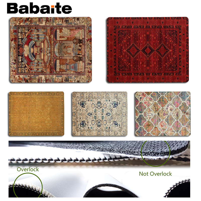 Babaite Non Slip PC Persian carpet Customized MousePads Computer Laptop Anime Mouse Mat Size for 18x22cm Rubber Mousemats
