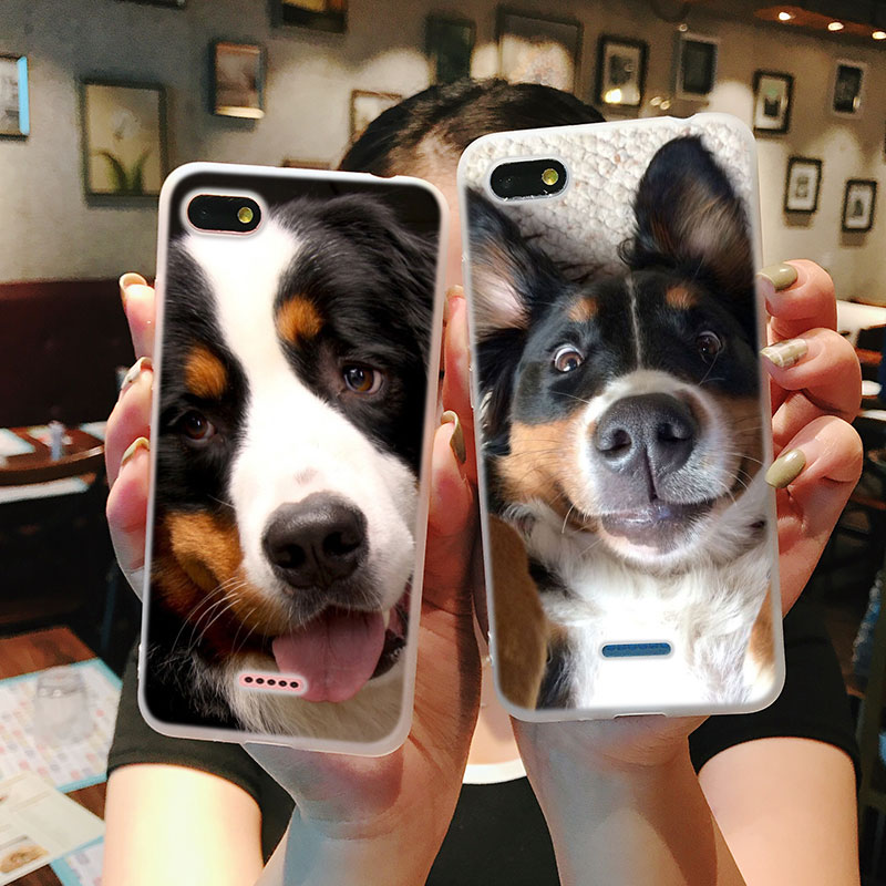 Silicone Phone Case Fashion Bernese Mountain Dog for Xiaomi Redmi S2 Note 4 4X 5 5Pro 5A Plus 6 6A 7 Pro Cover in Fitted Cases from Cellphones Telecommunications