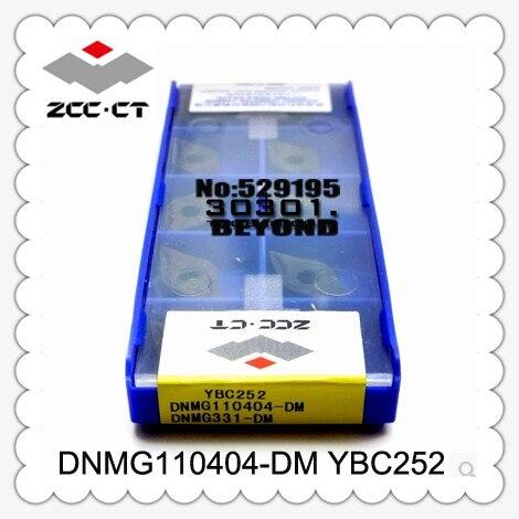 Carbide Inserts Machine Dnmg110404 dm Ybc252 Zcc Cutting Blade Turning Tip suitable For Mdjnr Mdqnr Mdpnn