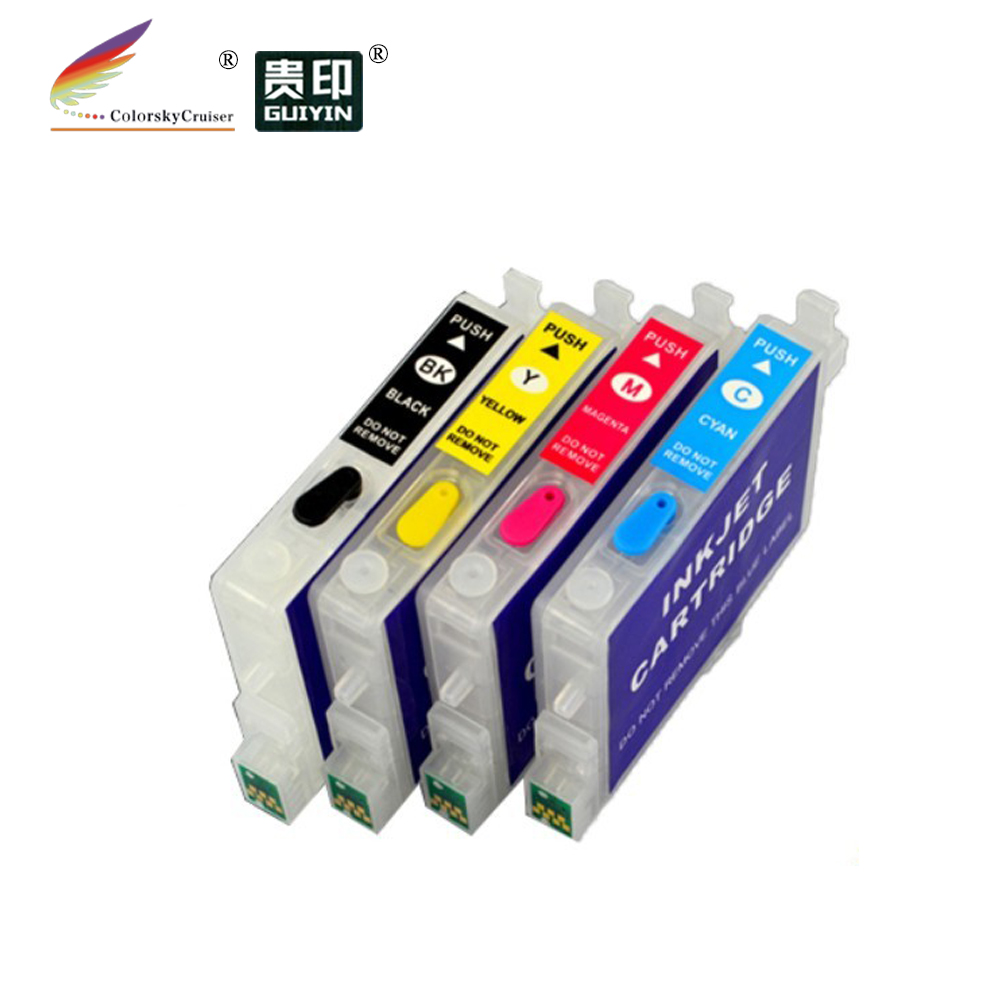 (rce431-441-454) Navulbare Refill Inkt Cartridge Voor Epson T0441-t0444 44 Stylus Cx6600 Cx4600 C64 C66