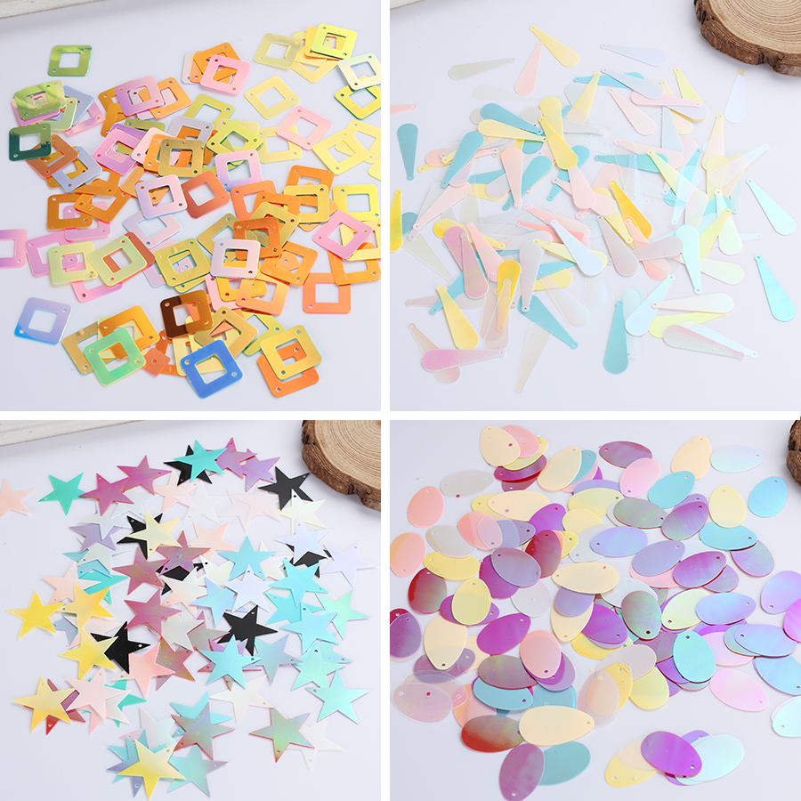 200pcs/lot Loose Paillette Sewing Side Hole Flat For DIY Earring Bag Beads Sequins Clothing For Jewelery Accessories Decoration