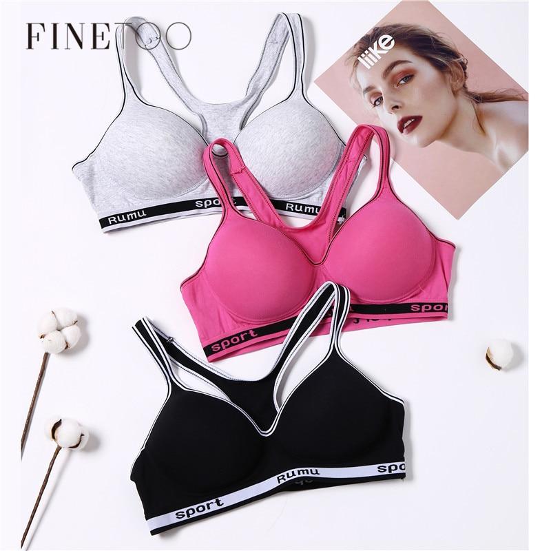 Female Fitness Bra B C Cup Wireless Bras For Women Breathable Sport Bra Running Underwear Girls Crop Top Lingerie Active Wear