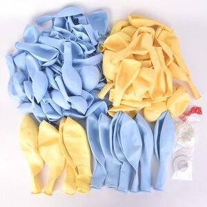 Image 5 - Conjunto de guirnaldas de globos Pastel para niños, juego de arco, color azul, amarillo, fiesta de cumpleaños, boda, fondo, decoloración de pared, 111