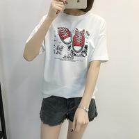 Fashion Print Loose Female T Shirt Japanese Harajuku Tumblr Casual Women JD90