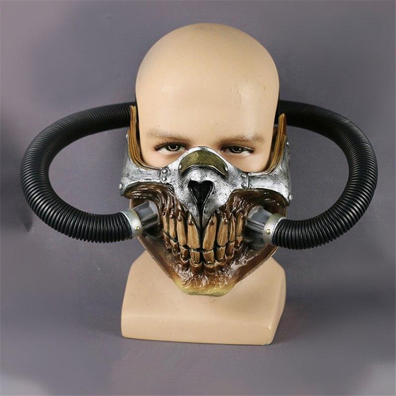 Crâne vapeur Punk fou gaz Max masque PVC Halloween fête masques meilleur vente costume cool maske film visage souris masque - 3