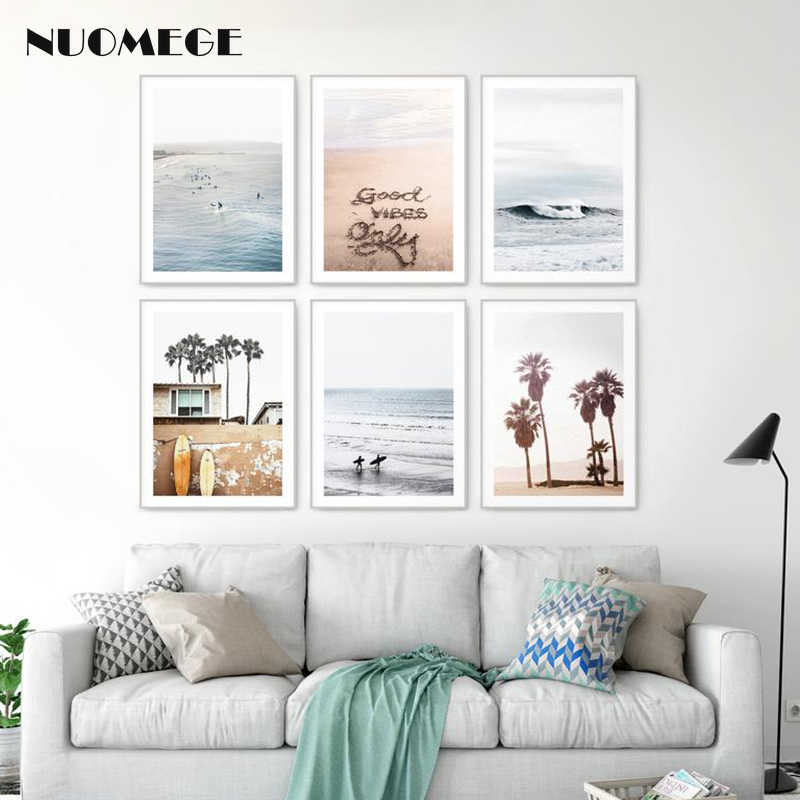 Nordic Style Poster California Ocean Beach Posters and Prints for Living Room Decoration Pictures Landscape Wall Picture Decor