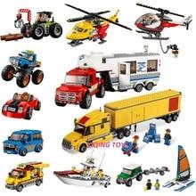 Все серии Совместимый Legoe город большие транспортные средства строительные блоки кирпичи автомобиль самолет корабль модель игрушки для детей подарок